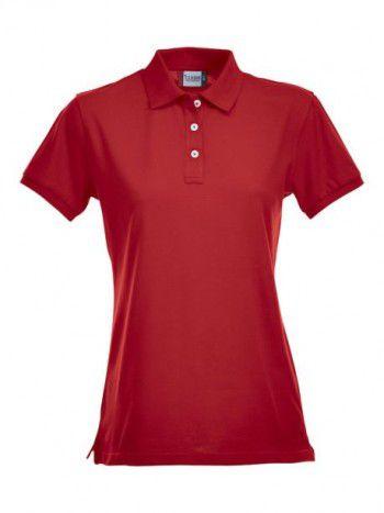 028241 35 Clique Stretch Premium Polo Dames Rood