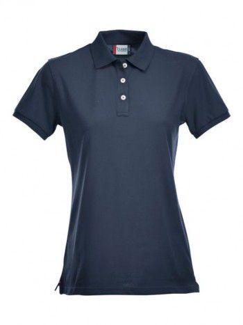 028241 580 Clique Stretch Premium Polo Dames Donker Blauw