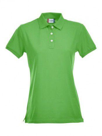028241 605 Clique Stretch Premium Polo Dames Appel Groen
