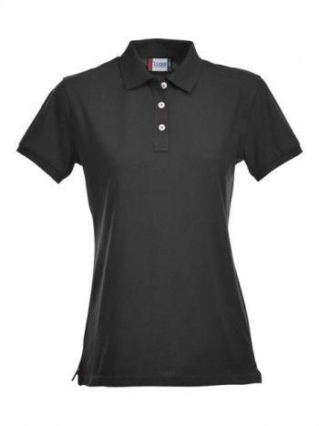 028241 99 Clique Stretch Premium Polo Dames Zwart