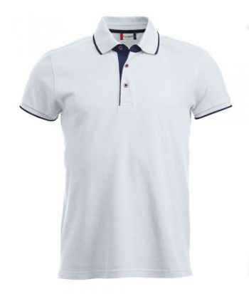 028242 00 Clique Polo Seattle Heren Wit