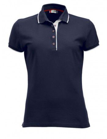 028243 580 Clique Polo Seattle Dames Donker Blauw