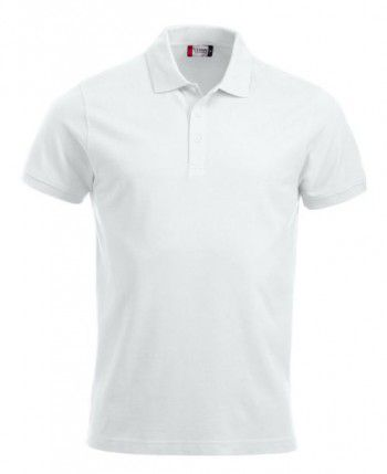 028244 00 Clique Classic Lincoln Polo Korte Mouw Heren Wit