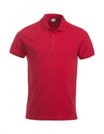 028244 35 Clique Classic Lincoln Polo Korte Mouw Heren Rood