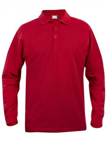 028245 35 Clique Classic Lincoln Lange Mouw Heren Rood