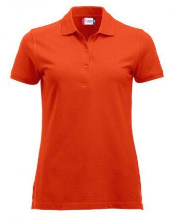 028246 18 Clique Classic Marion lange mouw Dames diep oranje