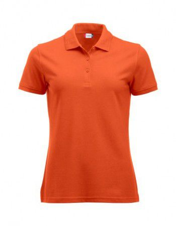 028251 18 Clique Manhattan Polo Dames Diep Oranje