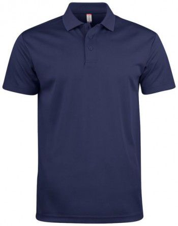 028254 580 Clique Polo Basic Active Donker Blauw