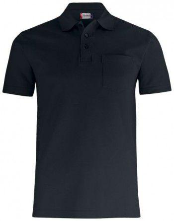 028255 99 Clique Basic Polo Pocket Zwart