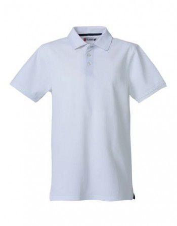 028260 00 Clique Heavy Premium Polo Heren Wit