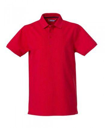 028260 35 Clique Heavy Premium Polo Heren Rood