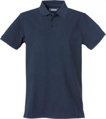 028260 580 Clique Heavy Premium Polo Heren Donker Blauw