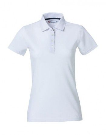 028261 00 Clique Heavy Premium Polo Dames Wit