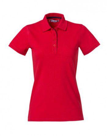 028261 35 Clique Heavy Premium Polo Dames Rood