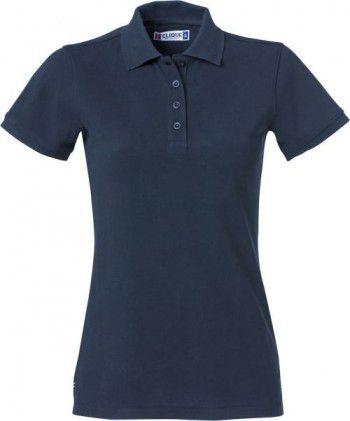 028261 580 Clique Heavy Premium Polo Dames Donker Blauw