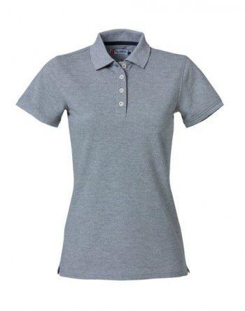 028261 95  Clique Heavy Premium Polo Dames Grijs Melange
