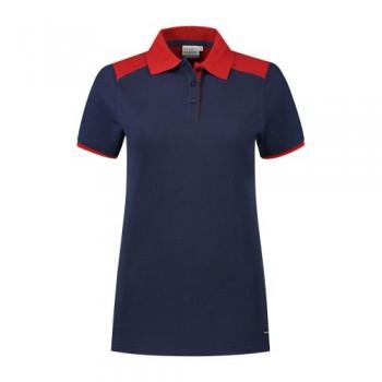santino-poloshirt-tivoli-ladies-2-color-line-donkerblauw-rood