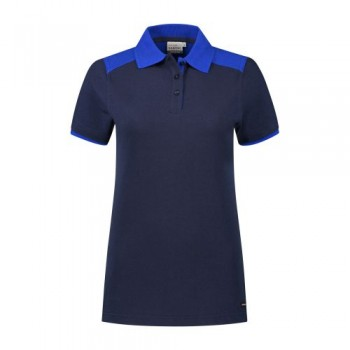 santino-poloshirt-tivoli-ladies-2-color-line-donkerblauw-royalblauw