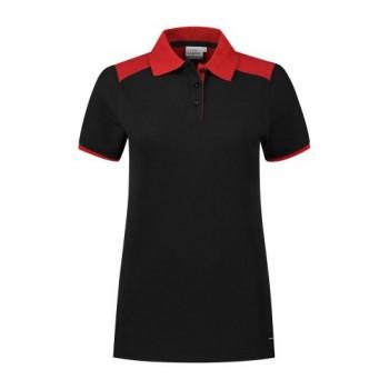 santino-poloshirt-tivoli-ladies-2-color-line-zwart-rood