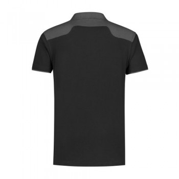 santino-poloshirt-tivoli-2-color-line-zwart-grijs-achterzijde